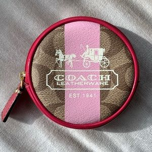 Coach Circular Coin Pouch Bag